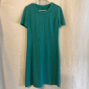 St John Collection 6 Dress Blue Knit Pockets 739